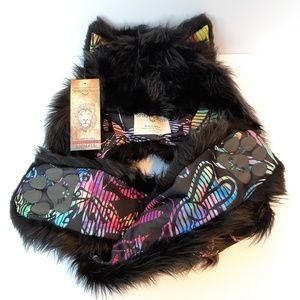SpiritHoods Black Wolf FauxEva - BNWT!